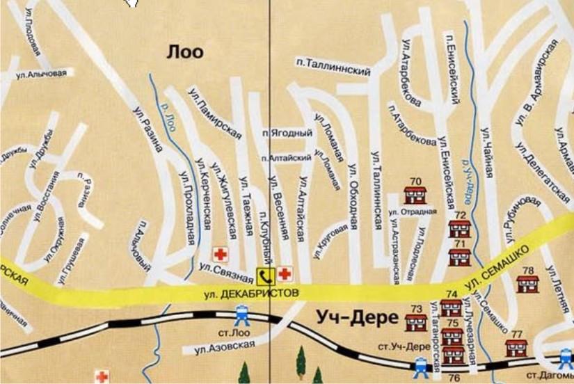 Поселок ЛОО Карта схема где